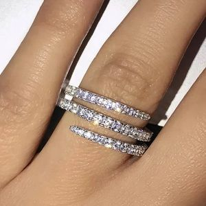 NEW!! HOT LOOK!! 🔥 925 stamped silver ring